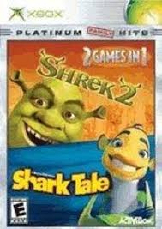 SHREK 2 Shark Tale 2 GAMES IN 1