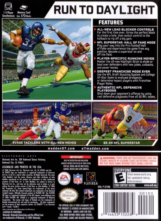TGDB - Browse - Game - Madden NFL 07