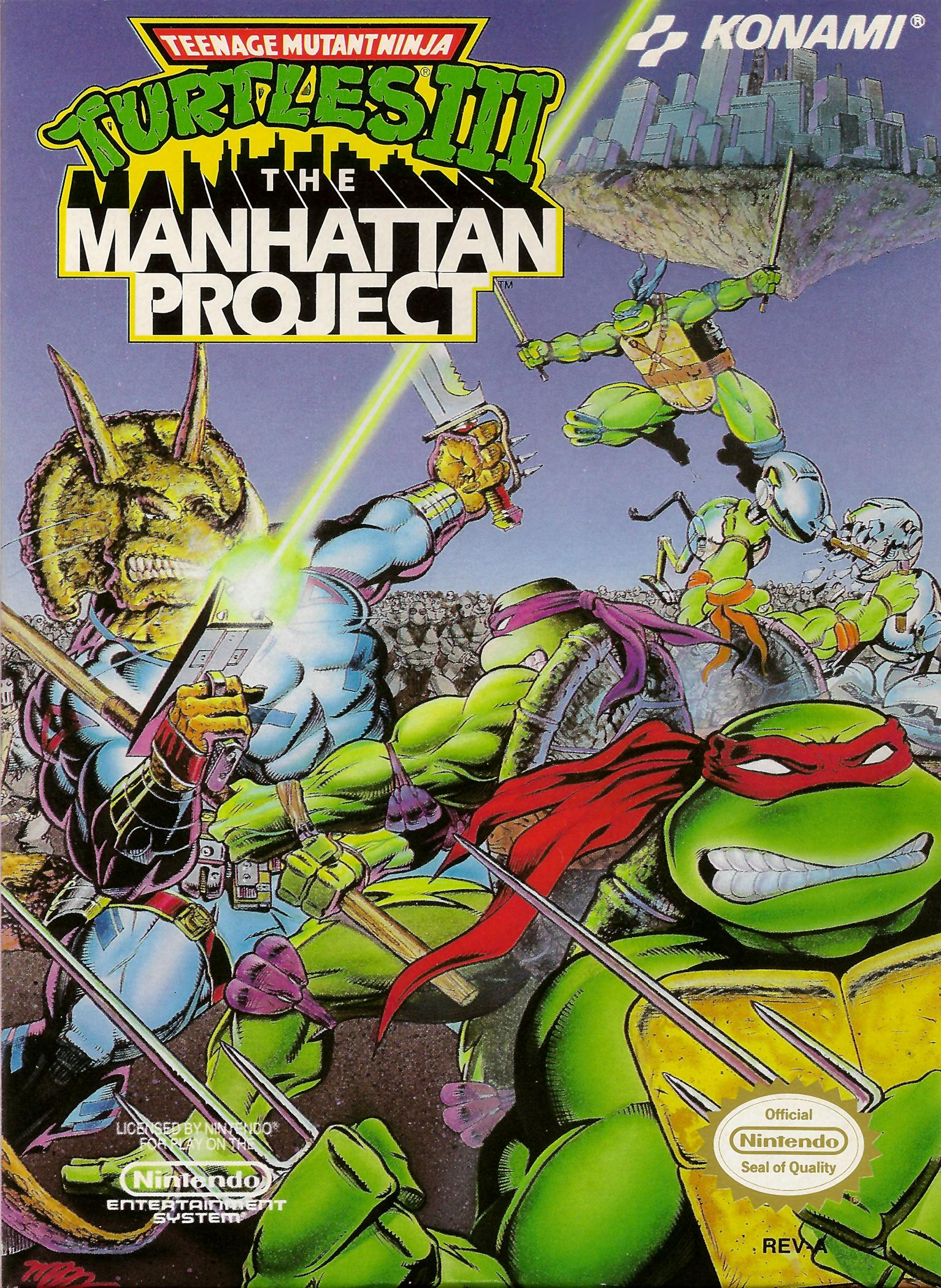 Teenage Mutant Ninja Turtles III The Manhattan Project/NES