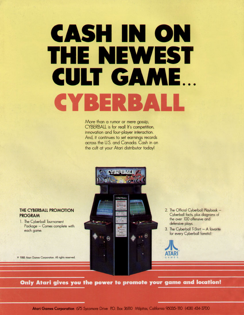 cyberball arcade game