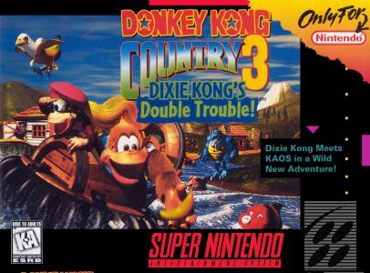 Donkey Kong Country 3 Dixie Kong's Double Trouble/SNES