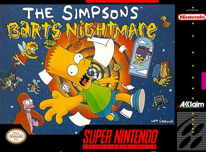 The Simpsons Bart's Nightmare/SNES