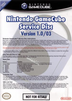 GameCube Service Disc v1.0/03